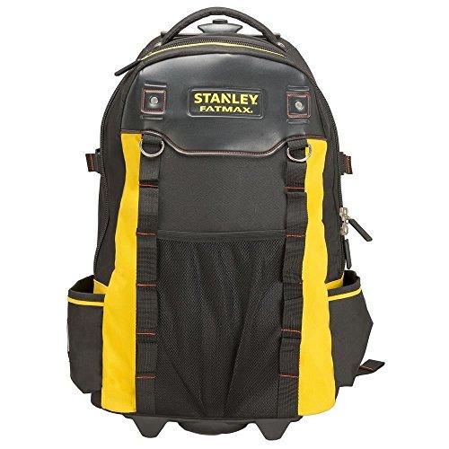 Stanley FatMax 1-79-215 Werkzeugrucksack, wasserdichter Kunststoffboden, atmungsaktive Polsterung, stabiler Teleskopgriff, robustes 600 Denier Nylon, 36 x 23 x 54 cm