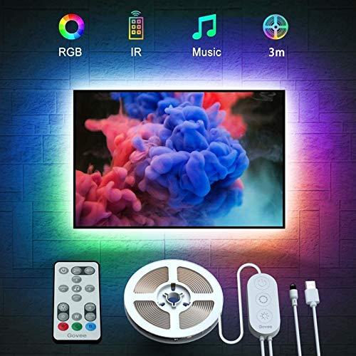 Govee LED TV Hintergrundbeleuchtung, geeignet für 46-60 Zoll Fernseher und PC, steuerbar via Fernbedienung, RGB, USB betrieben