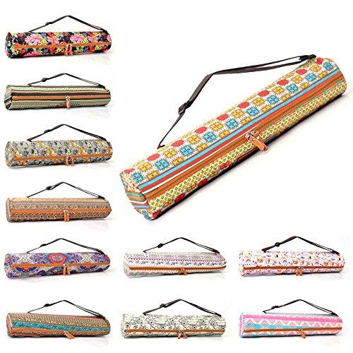 #DoYourYoga Yogatasche »Sunita hochwertigem Canvas (Segeltuch) / aufwendig verarbeitet/Tasche für Yogamatten bis zu Einer Größe von 186x61x0,6 cm Rosa Muster