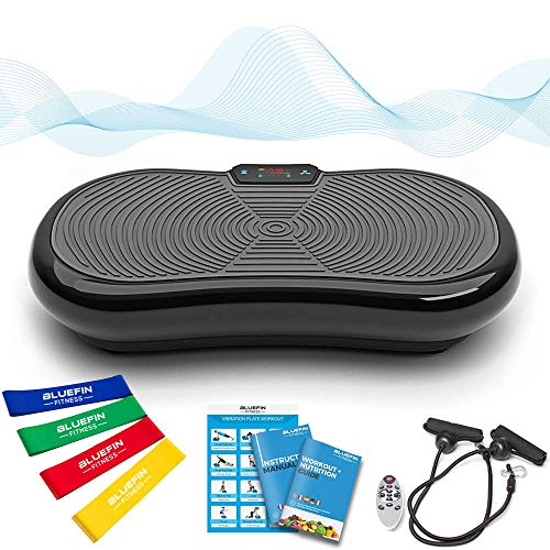 Bluefin Fitness Ultra Slim Power Vibration Plate | Lose Fat and Exercise From Home 5 training programs + 180 levels | Bluetooth speaker | ...