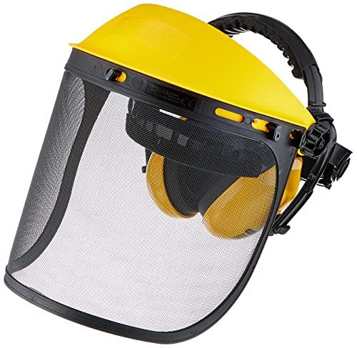 Oregon Gesichtsschutz und Gehörschutz Q515061, Gesichtsschutzmaske mit Netzvisier, integriertem Kapselgehörschutz und vielen Einstellungsmöglichkeiten, gelb