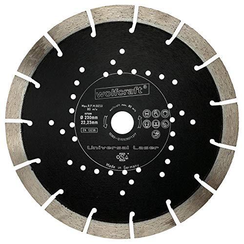 wolfcraft 8375000 Diamant-Trennscheibe'Expert-Universal' Ø 230 mm - für armierten Beton, Granit, Klinker, Naturstein, Bimsstein, Marmor, Kalksandstein, Dachpfannen