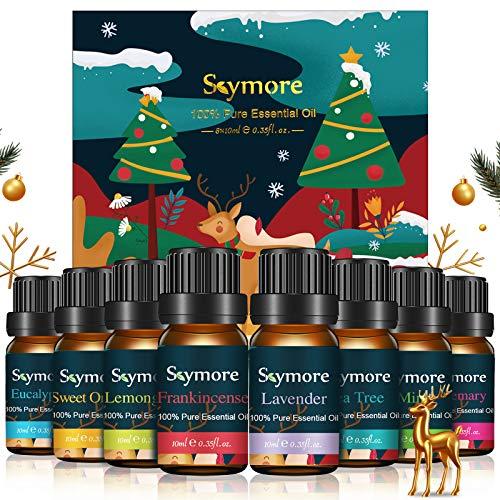 Skymore luonnollisesti puhtaat eteeriset öljysetti, puhtaat tuoksuöljysarjat diffuusoreille (sitruunaruoho, laventeli, teepuu, eukalyptus, oranssi, minttu), täydellinen lahjaksi