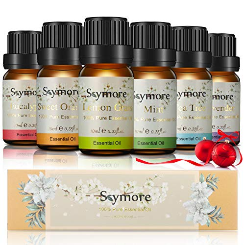 Eteeristen öljyjen lahjasetti, Skymore New Generation Aromaterapia-tuoksuöljy, 100% luonnolliset tuoksuöljyt Aromaöljyt diffuusorille, Ilmankostutin, Aromaterapia 6 × 10ml