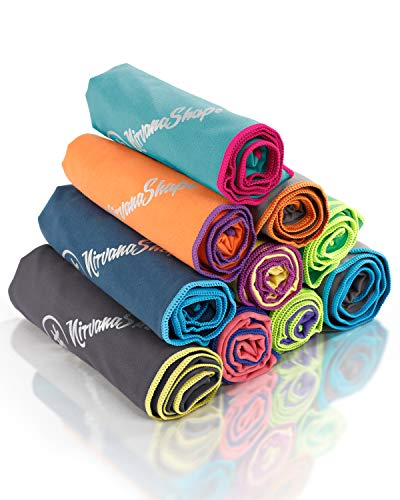 NirvanaShape ® DAS Reise-Handtuch für Backpacker, Urlauber & Traveller aus Microfaser| kompakt, leicht, schnelltrocknend | Mikrofaser-Handtuch, Bade-Handtuch für...