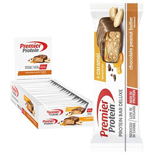 Premier Protein Bar Deluxe -suklaamaapähkinävoi 18x50g - korkea proteiinipitoisuus, matala sokeri + alennetut hiilihydraatit