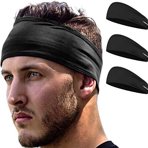E Tronic Edge Stirnband Damen und Herren   Haarband Sport Schweißband mit Anti-Rutsch-Streifen   Sport Stirnband für alle Kopfgrößen
