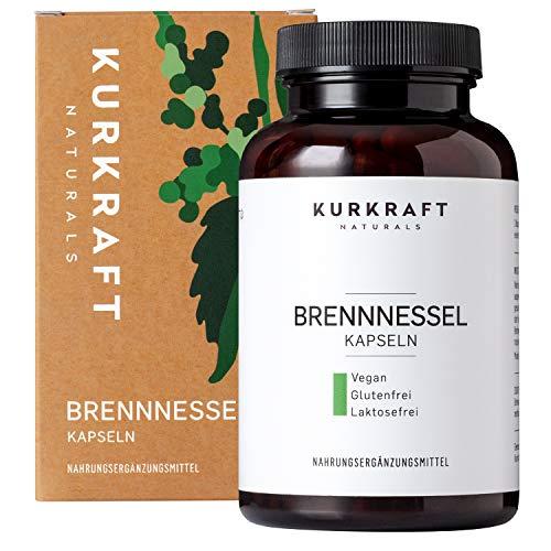 Kurkraft Brennnessel (180 vegane Kapseln) - 10:1 echter Brennnessel-Extrakt - 900mg hochdosiert je Tagesdosis - ohne Zusatzstoffe - hochdosiert - sorgfältig...
