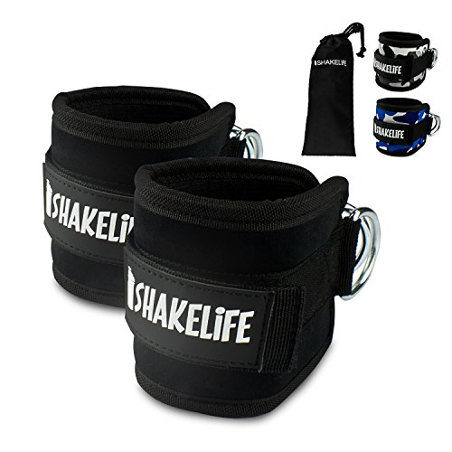 [EXTRA STRONG] Premium foot straps (2 pieces) - Padded - Perfect for leg training on the cable - Free carrying bag - Flexibly adjustable for every workout ...