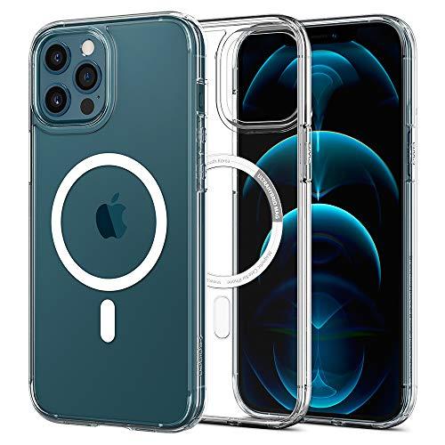 Spigen Ultra Hybrid Mag Hülle Kompatibel mit iPhone 12 Pro und Komaptibel mit iPhone 12 -Weiß
