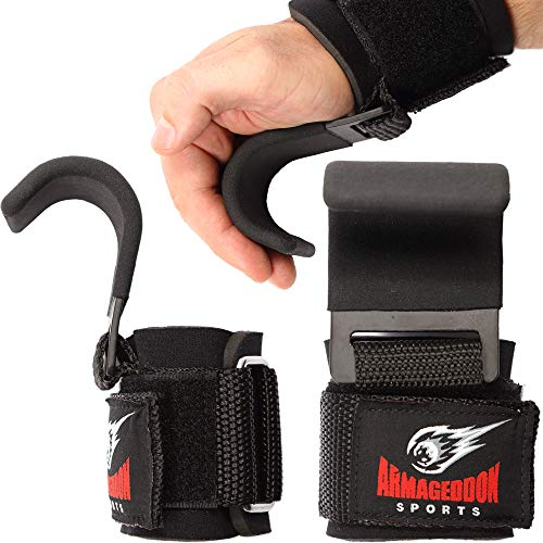 Bib pull strength training fitness hook pulling aid lifting straps power metal hook weight lifting wrist bandage neoprene padded deadlift gym grip straps