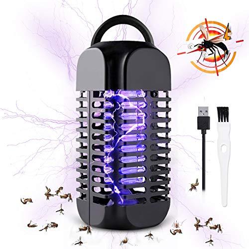Baban Insektenvernichter elektrisch, Licht UV- Mückenlampe, hängbarer Moskito Killer, USB-Buchse, Anti-Schock, effektive Reichweite 20 Quadratmeter, geeignet für...