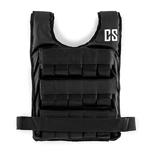 Capital Sports Monstervest or Beastvest - weight vest, fitness vest, strength & endurance training, removable metal weights, adjustable nylon belt, 5, 10, ...