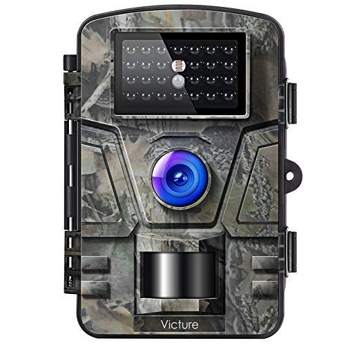 Victure Wildkamera mit Bewegungsmelder Nachtsicht Fotofalle 16MP 1080P Full HD Video mit IP66 Wasserdicht Infrarot Beutekameras für die Überwachung von Wildtieren...