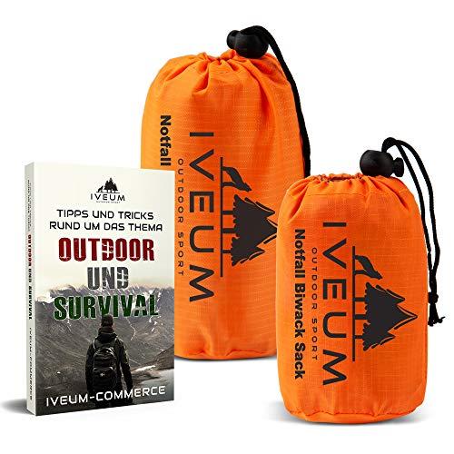 [2er Set] Biwaksack und Notfallzelt INKL. EBOOK – Notfall Schlafsack für Outdoor – ultraleichtes bivy Bag – Outdoor Equipment bivack Sack