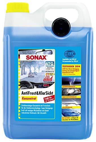 SONAX AntiFrost&KlarSicht Konzentrat (5 Liter) ergibt bis zu 15 Liter Winter-Scheibenwaschwasser, sofort mischbereit, schlierenfrei, Antikalk-Effekt   Art-Nr....
