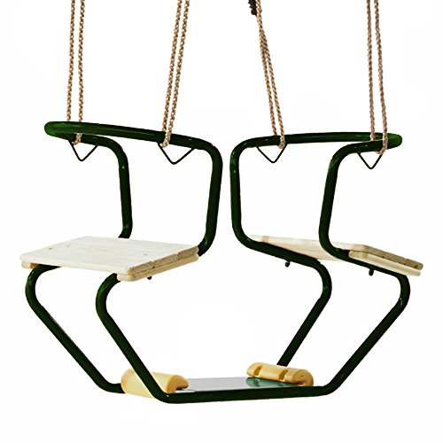 WICKEY Doppelschaukel Gondelschaukel Metall Club Schaukelsitz, 920x440x530mm, Metall, grün