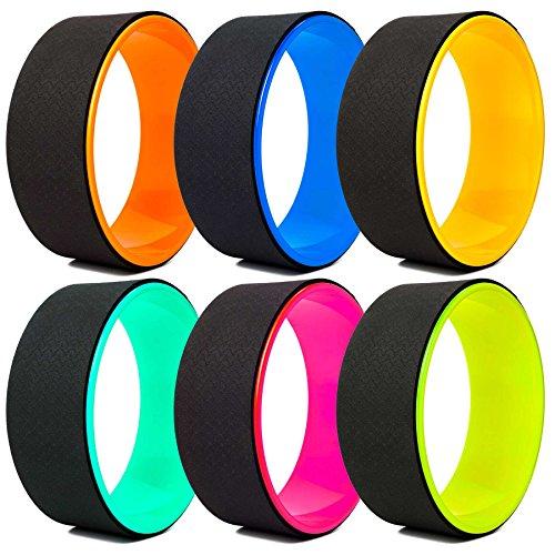 Yoga Rad »RollUp« in vielen Farben zur Verbesserung der Flexibilität bei Yogaübungen. Yogazubehör (Yoga Wheel) zur Steigerung der Intensität bei Asanas....