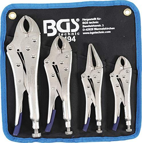 BGS 494 | Gripzangen-Satz | 4-tlg | Gripzange 125 / 180 / 250 mm | Langbeck-Gripzange 150 mm | inkl Tasche