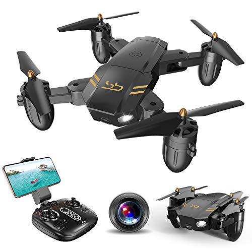 ScharkSpark Drohne Guard für Anfänger, Drohne mit FPV HD Kamera/Video, Tragbarer RC-Quadcopter, 2,4 G 6-Achsen Kopflos-Modus Höhe halten Ein-Tasten-Rückkehr...