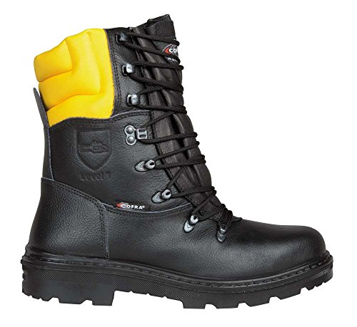 Cofra WOODSMAN SRC Sicherheitsstiefel mit Schnittschutz, schwarz, Größe 43, 25580-000