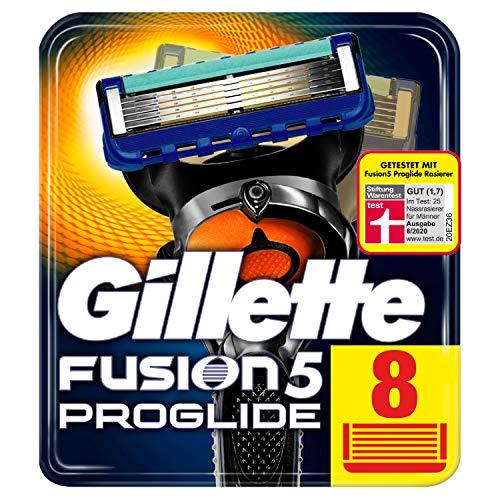 Gillette Fusion 5 ProGlide -leikkuuterät trimmeriterällä tarkkuutta ja liukumista varten, 8 vaihtoterää