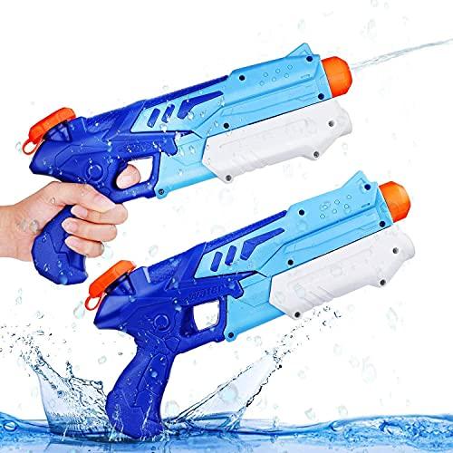 Ucradle Wasserpistole, 2er Set Water Gun Spielzeug für Kinder, 300ML Wasserpistolen mit 9 Meter Reichweite, Party Water Blaster Strand Sommer Pool Badespielzeug...