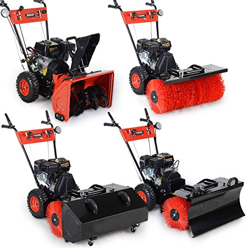 BRAST Gasoline Sweeper Snow Blower Snow Shovel 4,8kW (6,5PS) 80cm Wide Electro Start Quick Change System 4 in 1 device