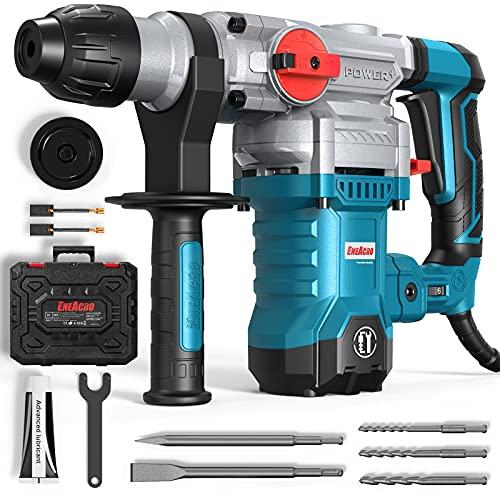 ENEACRO SDS-Plus Bohrhammer, 1500W 6Joule Abbruchhammer 6 Variable Geschwindigkeit 0-920U/Min mit 4 Funktionen, Anti-Vibrationsgriff und Sicherheitskupplung, 32 mm...