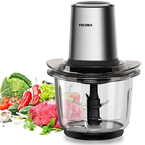 Zerkleinerer, FOCHEA 400W Elektrisch Zerkleinerer/Multi Zerkleinerer/Universalzerkleinerer/Gemüsezerkleinerer/Mixer für Gemüse, Obst & Fleisch mit 1,5 l...
