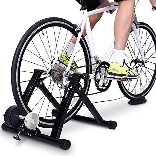 Sportneer Fahrrad Rollentrainer Stahl Fahrrad Übung Magnetischer Ständer mit Geräusch Reduktions Rad
