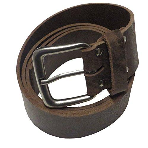 Kollektion Chrissys-in Ledergürtel dunkel braun 5 cm breit Büffelleder aus eigener Fertigung (95Bundweite)