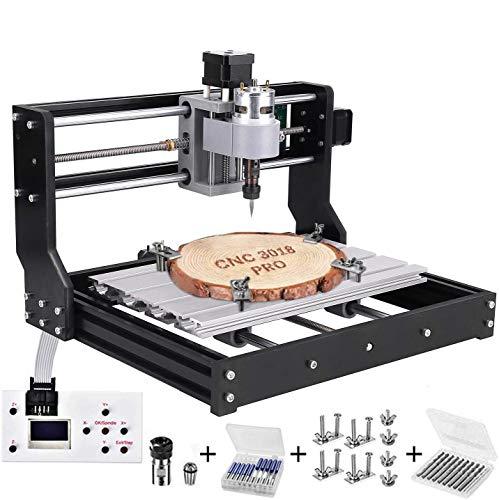 3018 Pro CNC Fräsmaschine Laser Engraving Machine,TOPQSC GRBL Steuerrouter DIY Kit 3 Achsen Kunststoff Acryl PVC Holzschnitzerei 300x180x45mm Mit Offline...