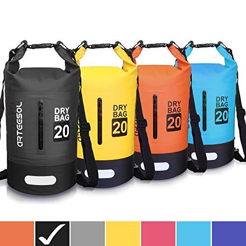 Arteesol Dry Bag - 5L 10L 20L 33L Waterproof Dry Bag / Sack Waterproof Bag with Long Adjustable Strap for Kayaking Boat Trip ...