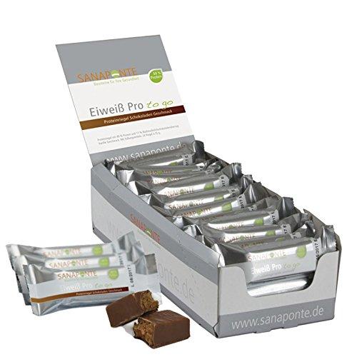 !! Uusi !! TESTIN VOITTAJA !! Sanaponte protein Pro'to go '-baarit 50% proteiinia (24x 35g baareja) vähän hiilihydraatteja sisältävät baarit suklaa-maku - proteiinibaari - vain 125 kcal ...