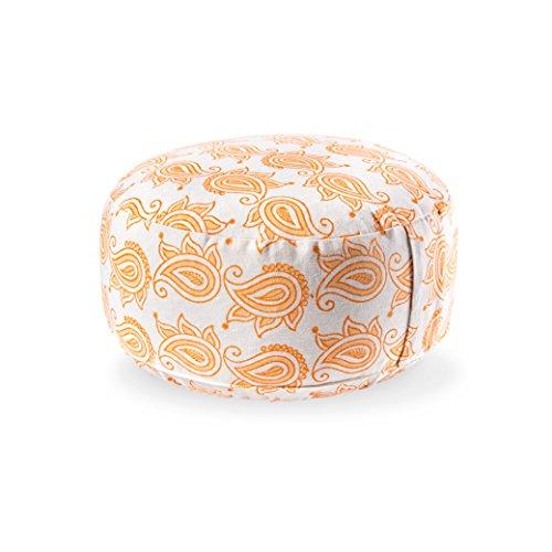 Lotuscrafts Yogakissen Meditationskissen Rund Lotus - Sitzhöhe 15cm - Waschbarer Bezug aus Baumwolle - Yoga Sitzkissen mit Dinkelfüllung - GOTS Zertifiziert...