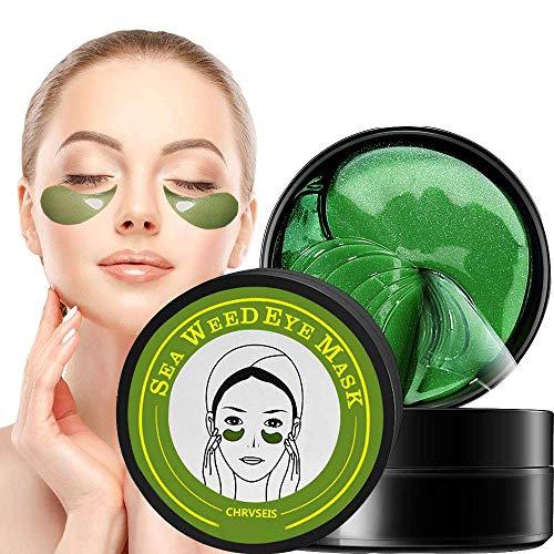 Eye pads, eye mask, anti aging pads, collagen treatment algae eye mask, with hyaluronic eye pads remove pockets dark circles & puffiness 60 pcs / box