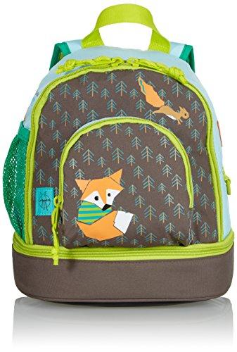 LÄSSIG Kinder Mini Rucksack mit Brustgurt, 3,5L , Braun (Little Tree Fox)