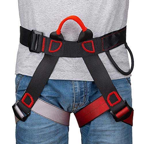 Linkax climbing harnesses Climbing harness, wider half harness for mountaineering, fire rescue, half body harness for women, men and children