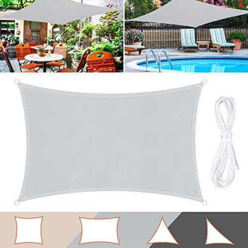 Wokkol Sonnensegel, Sonnenschutz Sonnensegel Wasserdicht, Sonnenschutz Balkon Hergestellt aus Hochwertigem Polyester mit UV Schutz, 160 g/m2 für...