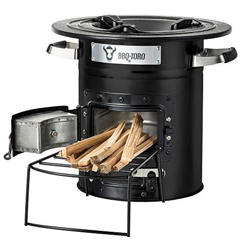 BBQ-Toro Raketenofen Rakete #2 I Rocket Stove fr Dutch Oven, Grillpfannen und vieles mehr (Schwarz)