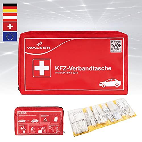KFZ-Verbandtasche, Auto-Verbandskasten, Erste Hilfe Koffer, Notfall-Set Auto, Erste Hilfe Tasche DIN 13614, First Aid Kit rot 44264