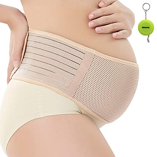 WANYI Bauchband für Schwangere Schwangerschaftsband, Schwangerschaftsbandage, Schwangerschaftsgürtel, aus atmungsaktivem & Dehnbare, Braun, XL 120CM