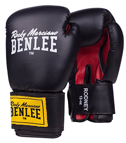 BENLEE Rocky Marciano Boxing Gloves Training Gloves Rodney, Black / Red, 12, 194007