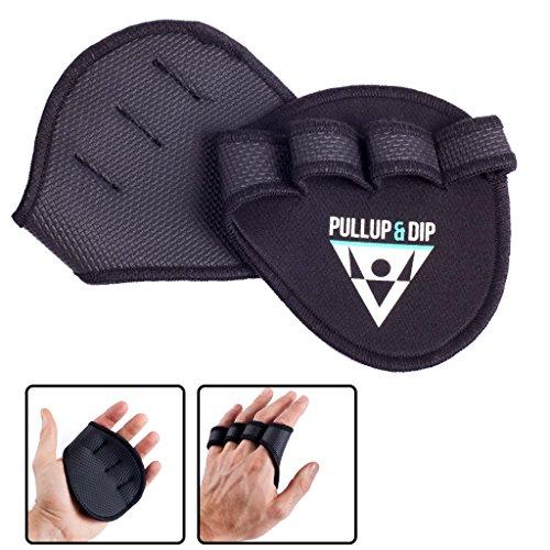 PULLUP & DIP Griffpolster Griffpads für Klimmzüge, Fitness, Bodybuilding & Krafttraining, 1 Paar Neopren Grip Pads, Trainings Pads als Alternative zu...