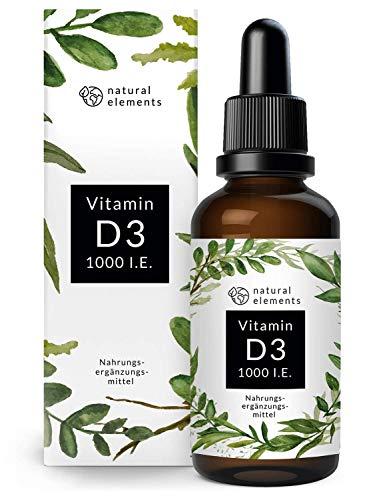 Vitamin D3 - Mehrfacher Sieger 2019/2020* - Laborgeprüfte 1000 I.E. pro Tropfen - 50ml (1750 Tropfen) - In MCT-Öl aus Kokos - Hochdosiert, flüssig und hergestellt...