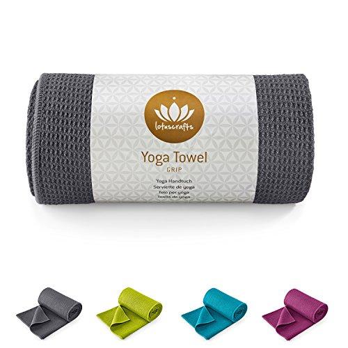 Lotuscrafts yoga towel Wet Grip - non-slip & quick-drying - anti-slip yoga towel with high grip - yoga towel ideal for hot yoga [183 x 61 cm]