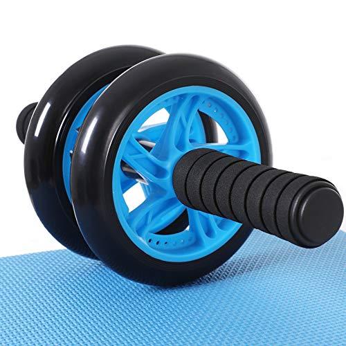 SONGMICS Bauchroller, AB Roller Bauchtrainer, AB Wheel für Fitness, mit rutschfester, gut gepolsterter Kniematte, Bauchmuskeltraining und Muskelaufbau, für Frauen...