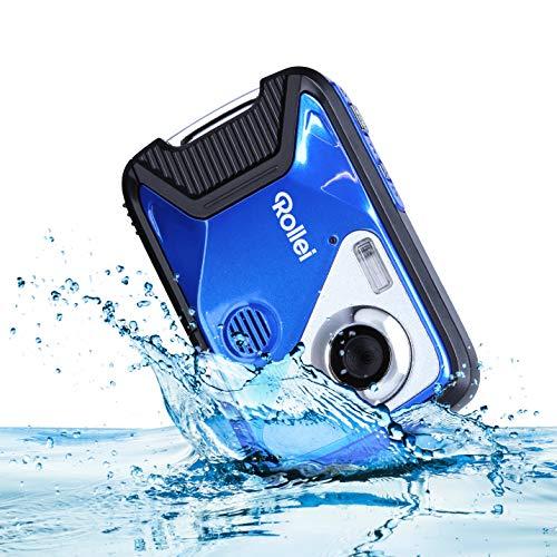 Rollei Sportsline 60 Plus - wasserdichte Digitalkamera mit 21 MP & Full HD Camcorder - Sports-Cam mit großem Display, 21 Motivprogrammen, Robustes Case und...