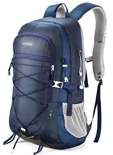 HOMIEE 45L Rucksack, Wasserdichter Wanderrucksack Trekkingrucksack Reiserucksack mit Reflexstreifen für Herren Damen, Ideal für Radfahren Reisen Klettern Outdoor...